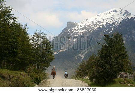 Cycling along gaucho