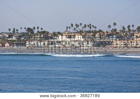Coast of Oceanside, California