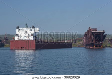 Ship At Dock