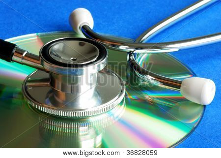 Stethoscope on CD concepts of information integrity and data security
