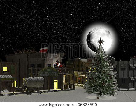 Western Town: Santa And Reindeer 1