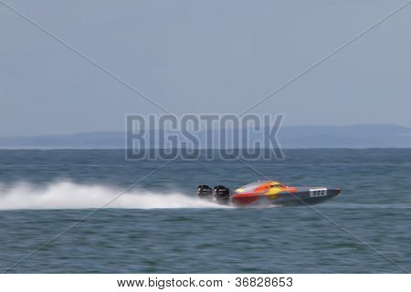 Brisbane, Australia - September 16 : Team Saracen Participating In Round 5 Of Offshore Superboat Cha