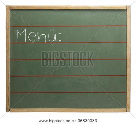 Menue Blackboard