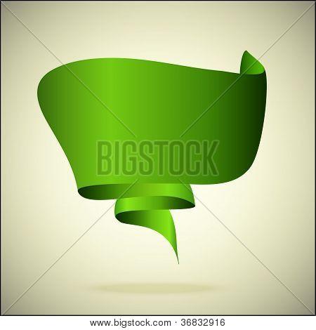 green speech bubble a