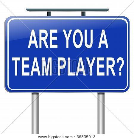 Team Player Concept.