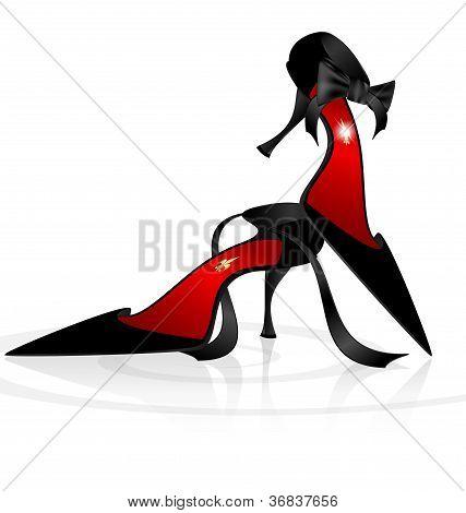 Lady die Schuhe schwarz