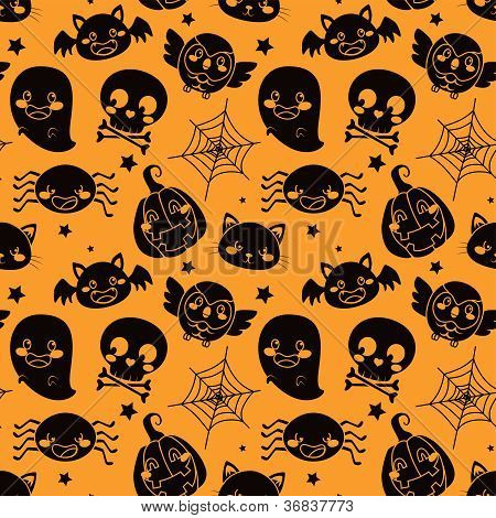 Halloween Orange Pattern