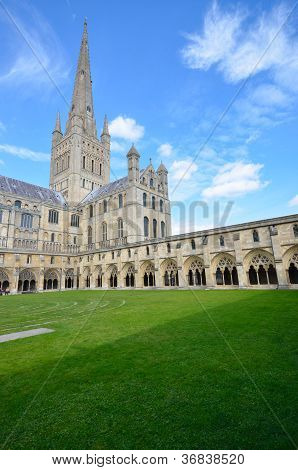 Norwich Cathedral and grounds