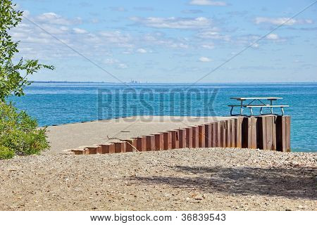 Urban Waterfront Picnic Table