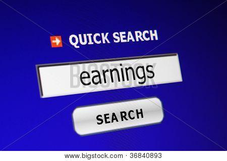 Search Earnings
