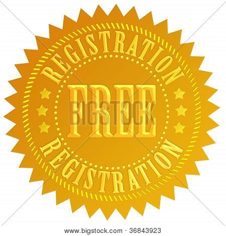 Free registration icon