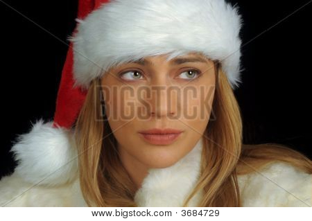 Attractive Christmas Girl With Blond Hair