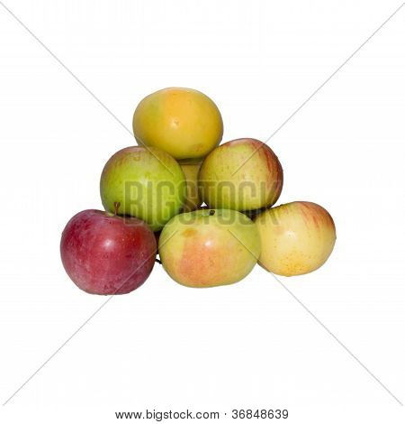 Apples A Pyramid, It Is Isolated.