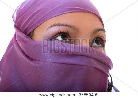 Arabian Woman With Her Face Covered