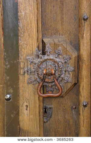 Medieval Ornate Brass Door Knob