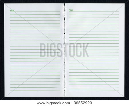 Blank notebook page
