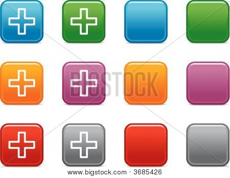 Color Buttons With Plus Icon