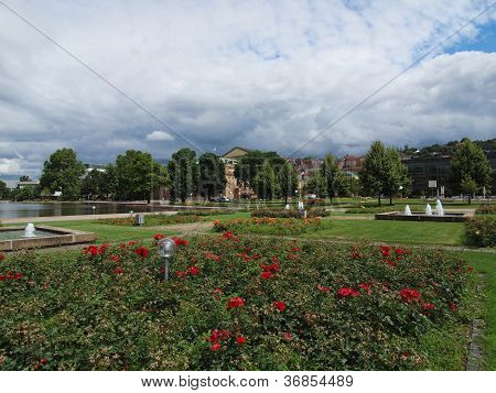 Gardens in Stuttgart Germany