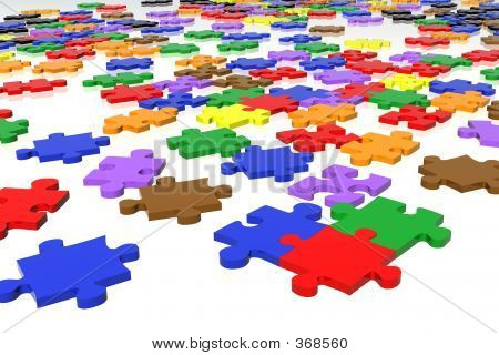 Multicolour Puzzle Pieces