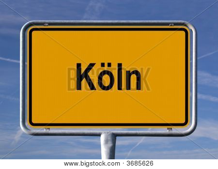 General City Entry Sign Of KöLn (Cologne), Germany