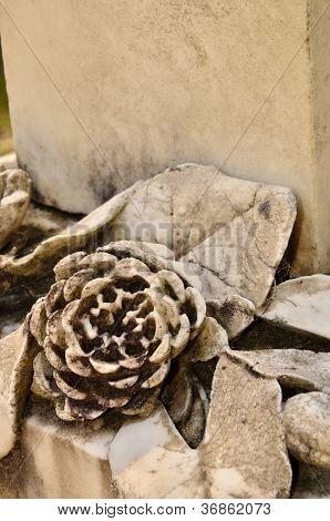 Carved rosette