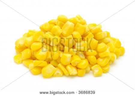 Stack Of Sweetcorn Kernels