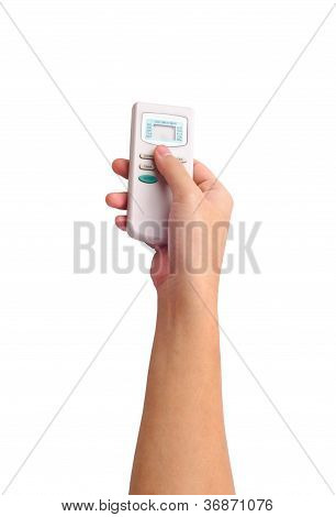 Human Hand With A Remote Control