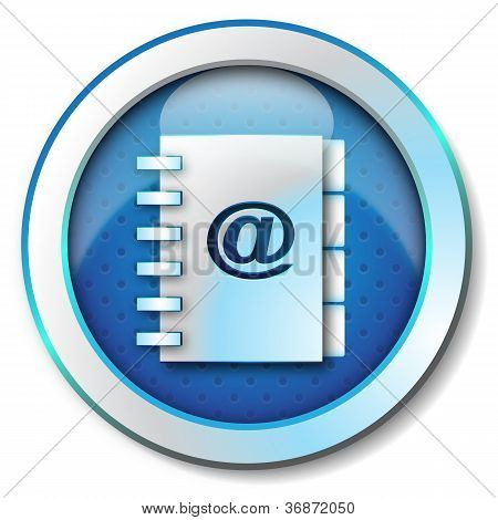 Adress book e-mail icon