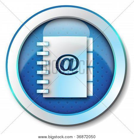 Adress book e-mail icon