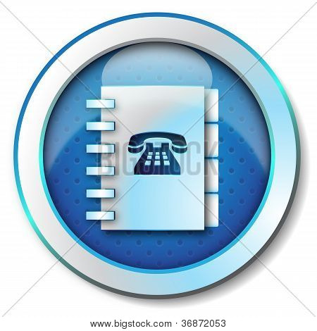 Adress book telephone numbers icon