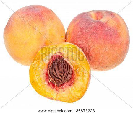 Three Fresh Peaches