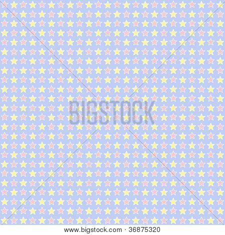 Seamless Pastel Star Background