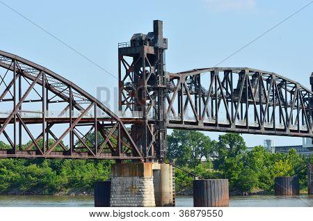 Old Rock Island railroad bridge