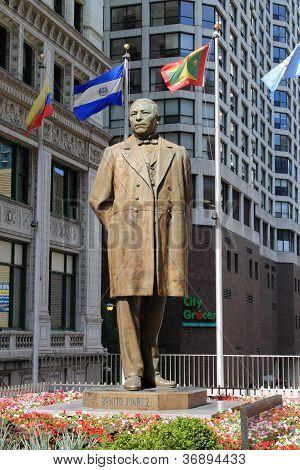 Benito Ju�rez Statue - Chicago