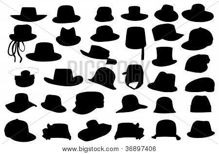 Wallets collection silhouette vector illustration isolated on wh