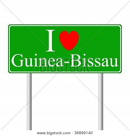 I Love Guinea Bissau, Concept Road Sign