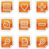 Image Viewer Web Icons, Orange Glossy Sticker Series