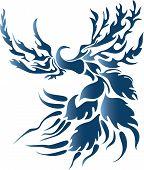 Постер, плакат: Стилизованные фэнтези птица
