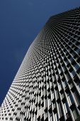 foto of prudential center  - Looking up at the Prudential Tower in Boston - JPG