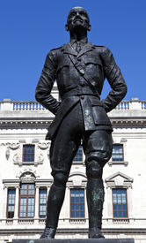stock photo of smut  - Jan Christian Smuts statue in Parliament Square London - JPG