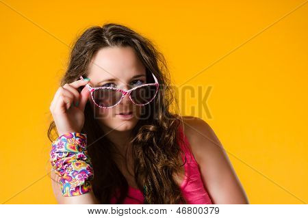 Girl And Sunglasses
