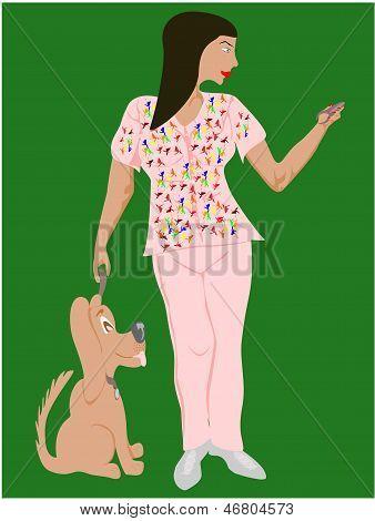black woman veterinarian technician