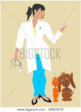 veterinario de mujer negra
