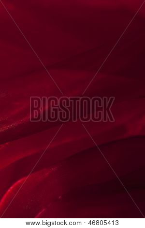 Red Voile Folded Fabric Backgroun