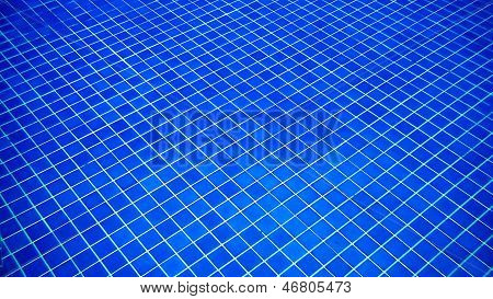 Blue Pool Tile Background
