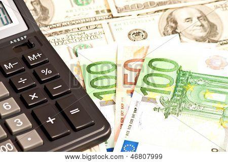 Geschäft Bild: Geld und Taschenrechner