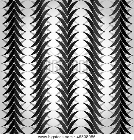 Pattern with black and white waves.
