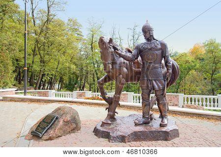 Dobrynja Nikitich Sculpture - Hero Of Russian Epic