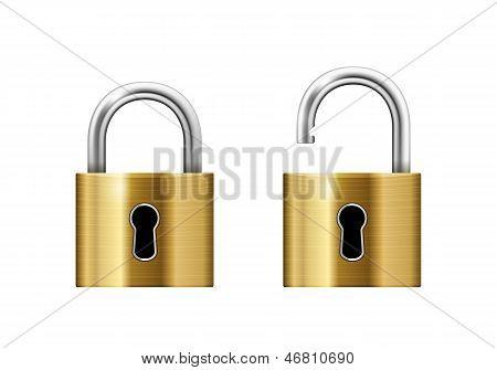 Padlock with Keyhole