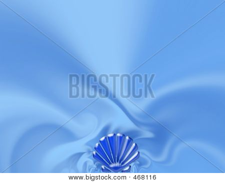 Celebratory Blue Background With Cockleshell